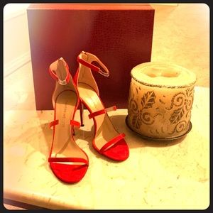 "BRAND NEW ""Tamara Mellon"" red high-heeled shoes"